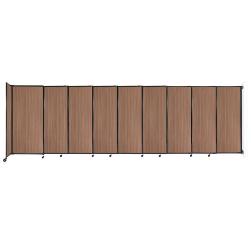 """Wall-Mounted StraightWall Sliding Partition 19'9"""" x 6' River Birch Wood Grain"""