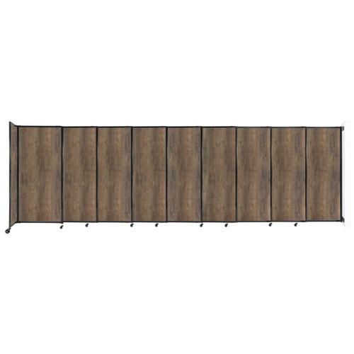"Wall-Mounted StraightWall Sliding Partition 19'9"" x 6' Urban Oak Wood Grain"