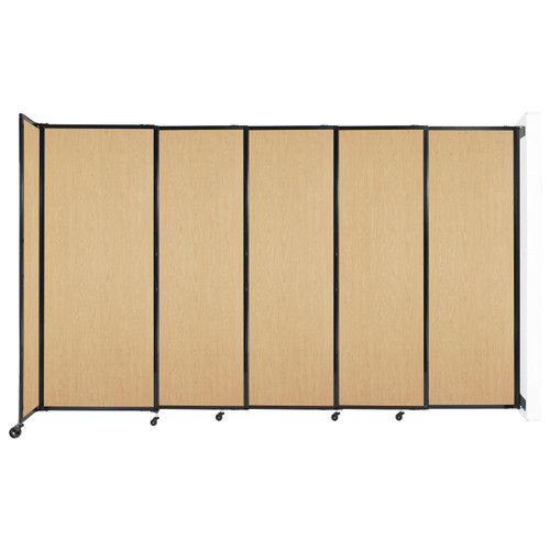 """Wall-Mounted StraightWall Sliding Partition 11'3"""" x 6'10"""" Natural Maple Wood Grain"""