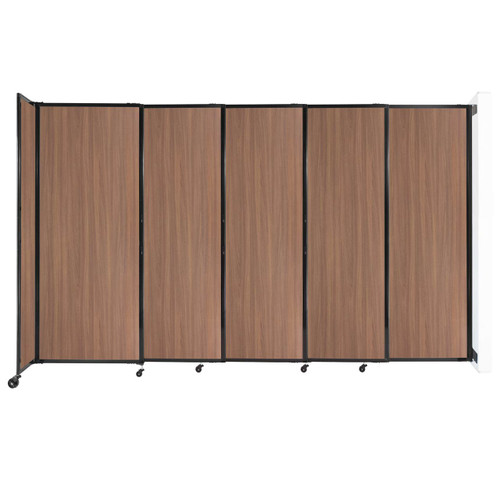 """Wall-Mounted StraightWall Sliding Partition 11'3"""" x 6'10"""" River Birch Wood Grain"""