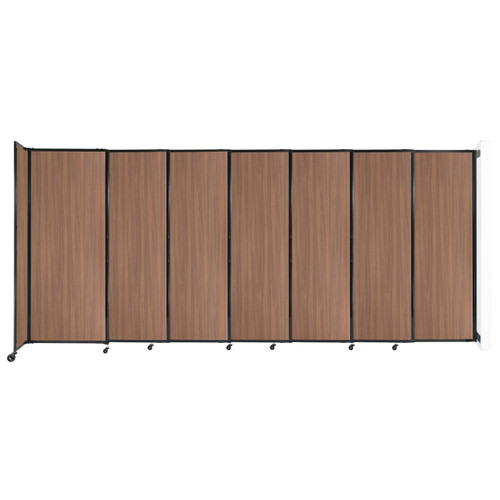 """Wall-Mounted StraightWall Sliding Partition 15'6"""" x 6'10"""" River Birch Wood Grain"""