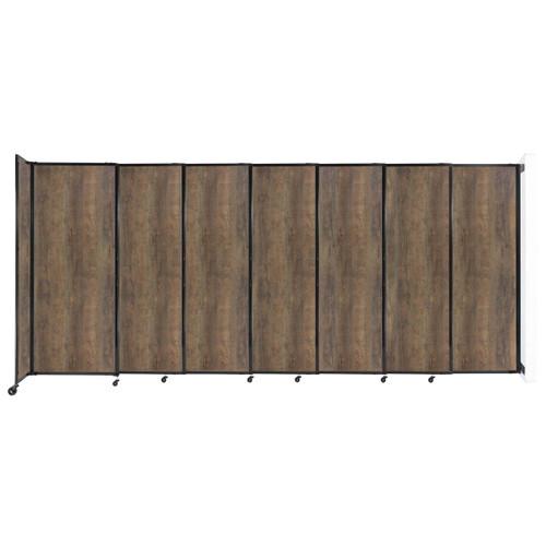 "Wall-Mounted StraightWall Sliding Partition 15'6"" x 6'10"" Urban Oak Wood Grain"