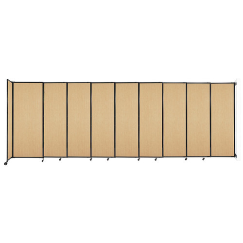 """Wall-Mounted StraightWall Sliding Partition 19'9"""" x 6'10"""" Natural Maple Wood Grain"""