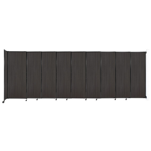"""Wall-Mounted StraightWall Sliding Partition 19'9"""" x 6'10"""" Carbon Ash Wood Grain"""