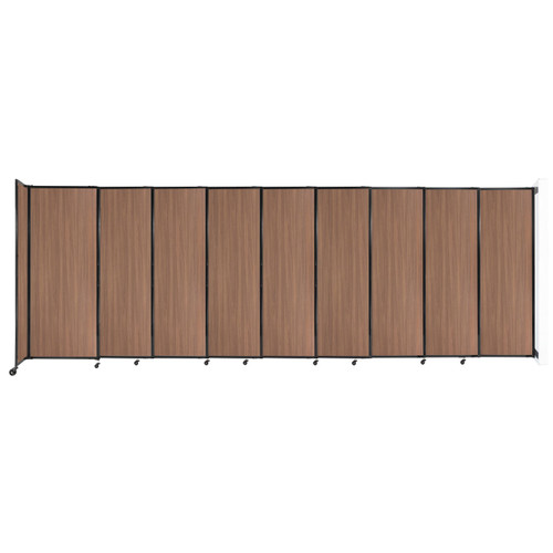"""Wall-Mounted StraightWall Sliding Partition 19'9"""" x 6'10"""" River Birch Wood Grain"""