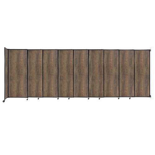 "Wall-Mounted StraightWall Sliding Partition 19'9"" x 6'10"" Urban Oak Wood Grain"