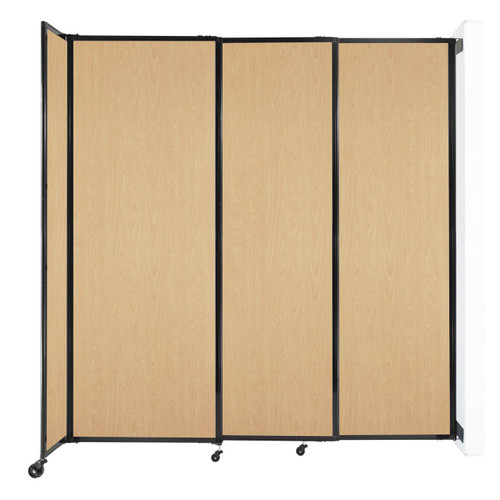 """Wall-Mounted StraightWall Sliding Partition 7'2"""" x 7'6"""" Natural Maple Wood Grain"""