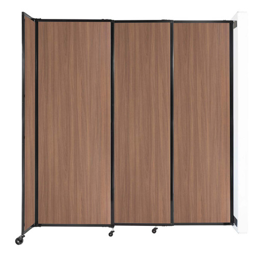 """Wall-Mounted StraightWall Sliding Partition 7'2"""" x 7'6"""" River Birch Wood Grain"""