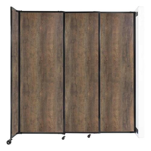 "Wall-Mounted StraightWall Sliding Partition 7'2"" x 7'6"" Urban Oak Wood Grain"