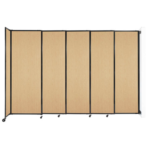 """Wall-Mounted StraightWall Sliding Partition 11'3"""" x 7'6"""" Natural Maple Wood Grain"""