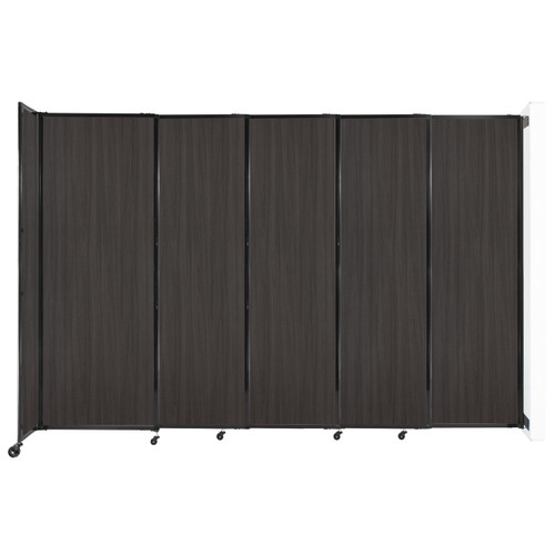 """Wall-Mounted StraightWall Sliding Partition 11'3"""" x 7'6"""" Carbon Ash Wood Grain"""