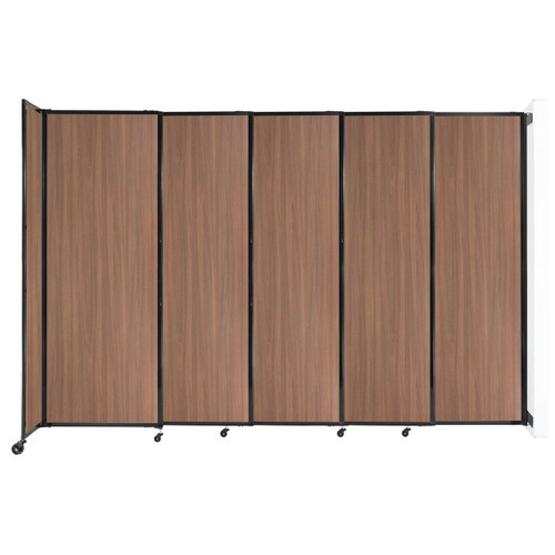 """Wall-Mounted StraightWall Sliding Partition 11'3"""" x 7'6"""" River Birch Wood Grain"""