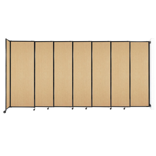 """Wall-Mounted StraightWall Sliding Partition 15'6"""" x 7'6"""" Natural Maple Wood Grain"""