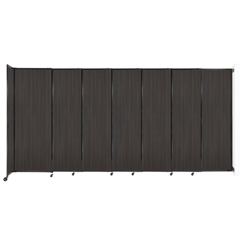 """Wall-Mounted StraightWall Sliding Partition 15'6"""" x 7'6"""" Carbon Ash Wood Grain"""
