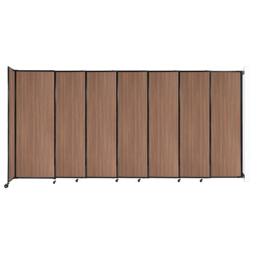 """Wall-Mounted StraightWall Sliding Partition 15'6"""" x 7'6"""" River Birch Wood Grain"""