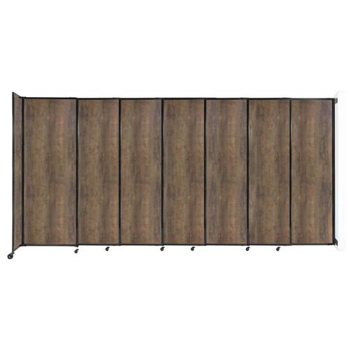 "Wall-Mounted StraightWall Sliding Partition 15'6"" x 7'6"" Urban Oak Wood Grain"
