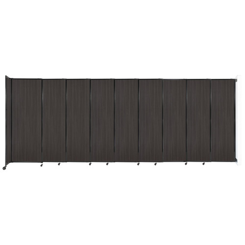 """Wall-Mounted StraightWall Sliding Partition 19'9"""" x 7'6"""" Carbon Ash Wood Grain"""