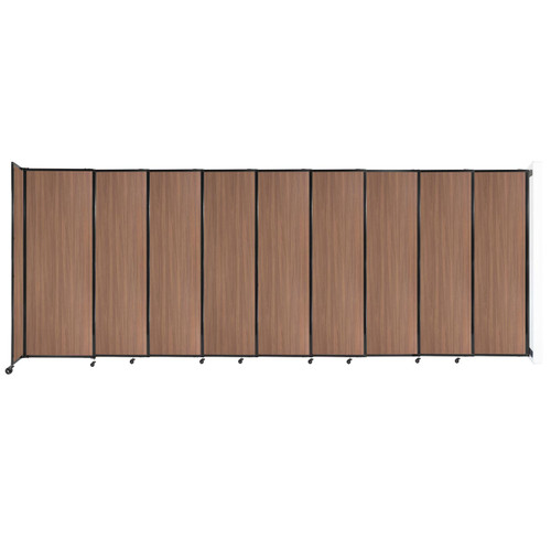 """Wall-Mounted StraightWall Sliding Partition 19'9"""" x 7'6"""" River Birch Wood Grain"""