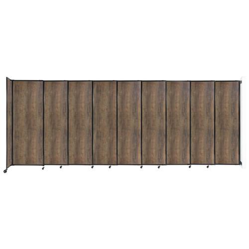 "Wall-Mounted StraightWall Sliding Partition 19'9"" x 7'6"" Urban Oak Wood Grain"