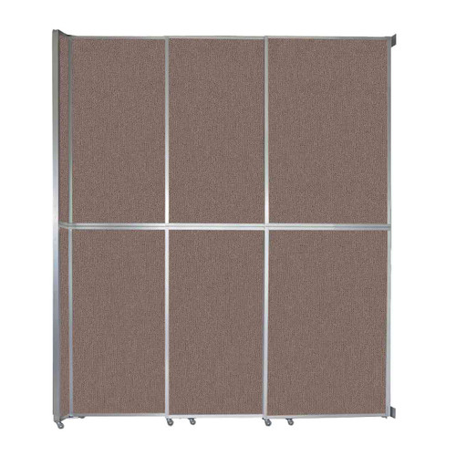 """Operable Wall Sliding Room Divider 9'9"""" x 12'3"""" Latte Fabric"""