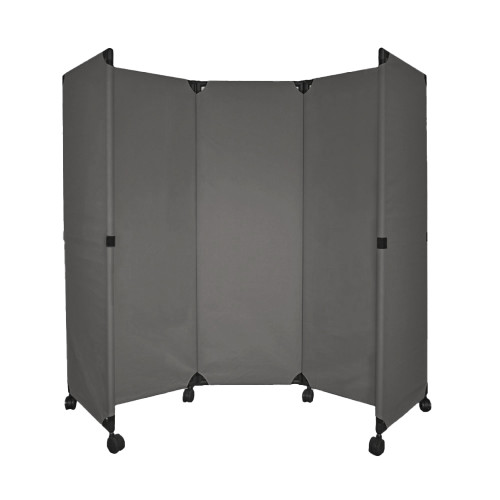 MP10 Economical Folding Portable Partition 6' x 6' Pewter Gray Canvas