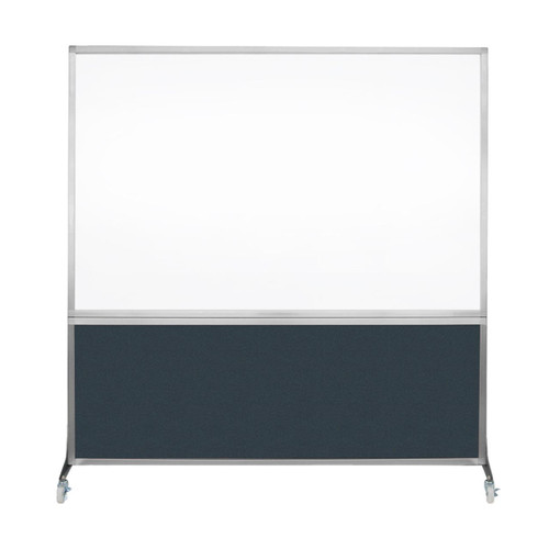 DivideWrite Portable Whiteboard Partition 6' x 6' Blue Spruce Fabric