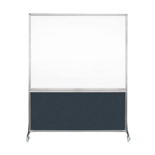 DivideWrite Portable Whiteboard Partition 5' x 6' Blue Spruce Fabric