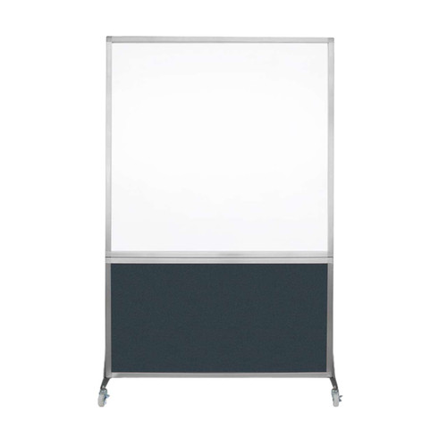 DivideWrite Portable Whiteboard Partition 4' x 6' Blue Spruce Fabric