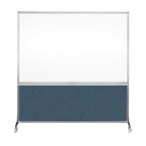DivideWrite Portable Whiteboard Partition 6' x 6' Caribbean Fabric