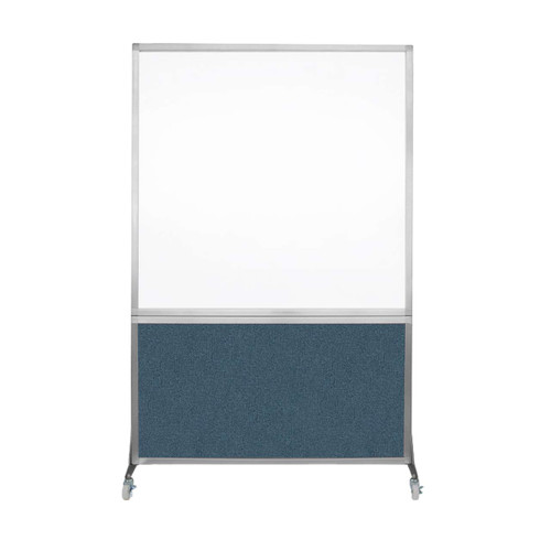 DivideWrite Portable Whiteboard Partition 4' x 6' Caribbean Fabric