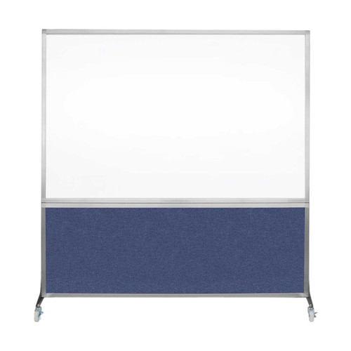 DivideWrite Portable Whiteboard Partition 6' x 6' Cerulean Fabric