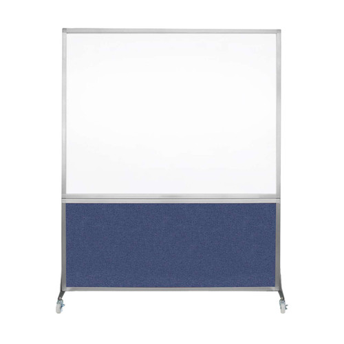 DivideWrite Portable Whiteboard Partition 5' x 6' Cerulean Fabric