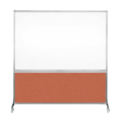 DivideWrite Portable Whiteboard Partition 6' x 6' Papaya Fabric