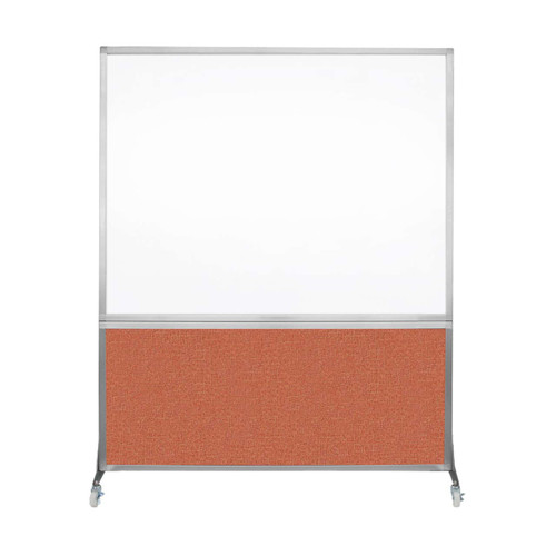 DivideWrite Portable Whiteboard Partition 5' x 6' Papaya Fabric