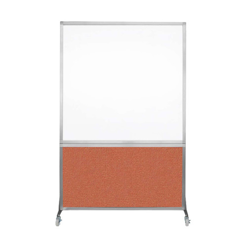 DivideWrite Portable Whiteboard Partition 4' x 6' Papaya Fabric