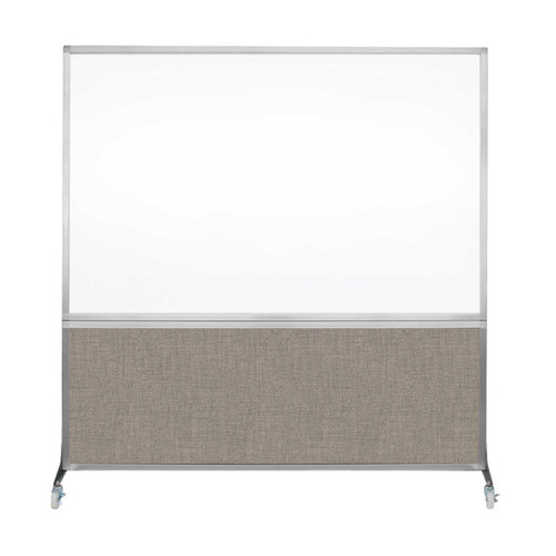 DivideWrite Portable Whiteboard Partition 6' x 6' Warm Pebble Fabric
