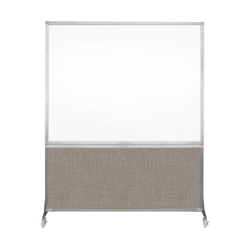 DivideWrite Portable Whiteboard Partition 5' x 6' Warm Pebble Fabric