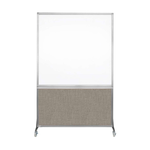 DivideWrite Portable Whiteboard Partition 4' x 6' Warm Pebble Fabric