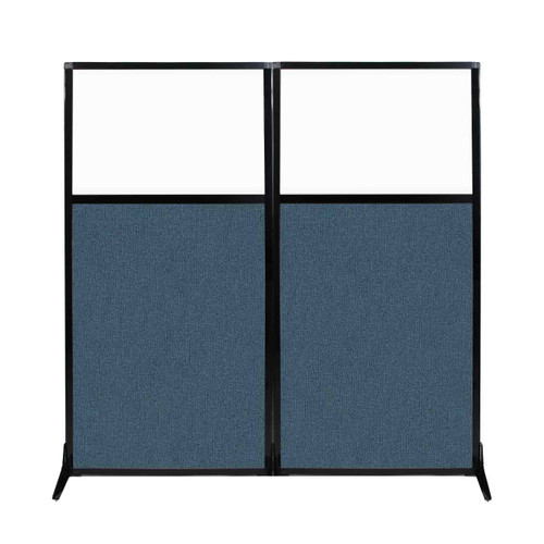 "Work Station Screen 66"" x 70"" Caribbean Fabric With Clear Window"