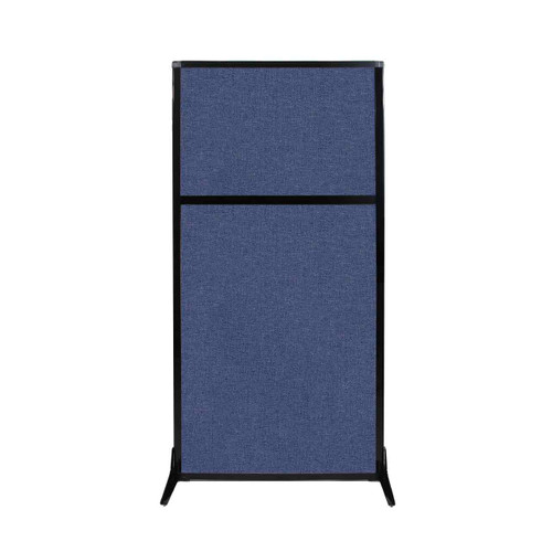 "Work Station Screen 33"" x 70"" Cerulean Fabric"