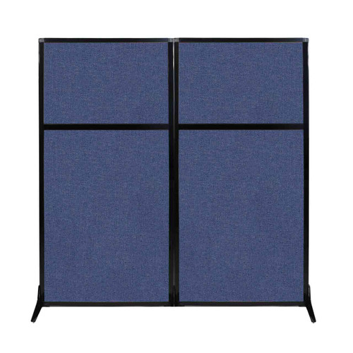"Work Station Screen 66"" x 70"" Cerulean Fabric"