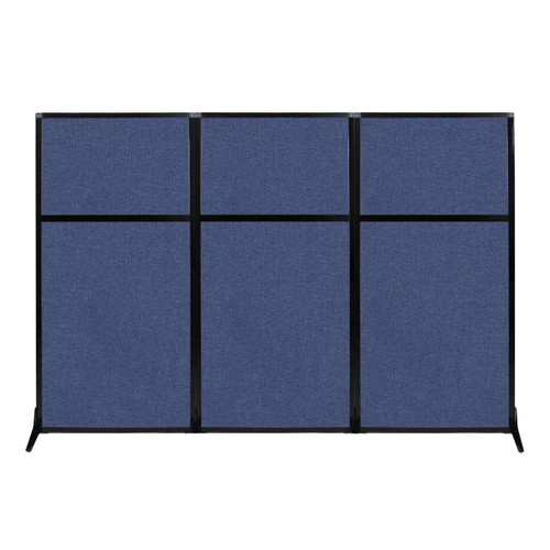 "Work Station Screen 99"" x 70"" Cerulean Fabric"