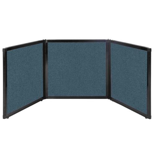 "Folding Tabletop Display 78"" x 24"" Caribbean Fabric"
