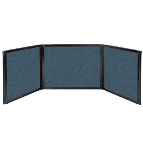 "Folding Tabletop Display 99"" x 24"" Caribbean Fabric"