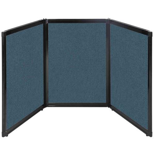 "Folding Tabletop Display 78"" x 36"" Caribbean Fabric"