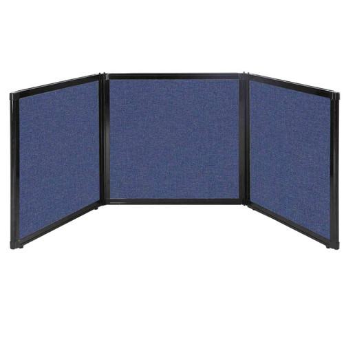 "Folding Tabletop Display 78"" x 24"" Cerulean Fabric"