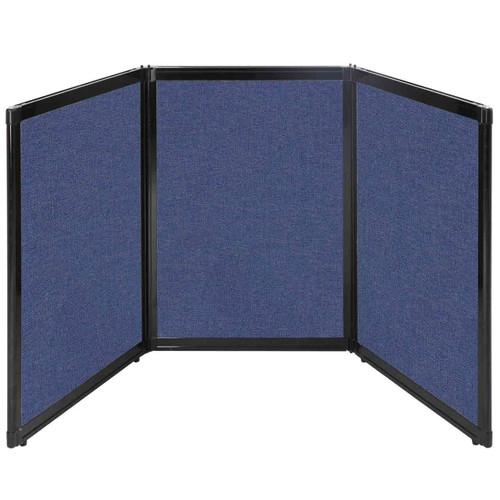 "Folding Tabletop Display 78"" x 36"" Cerulean Fabric"
