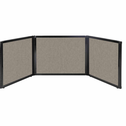 "Folding Tabletop Display 99"" x 24"" Mocha Fabric"