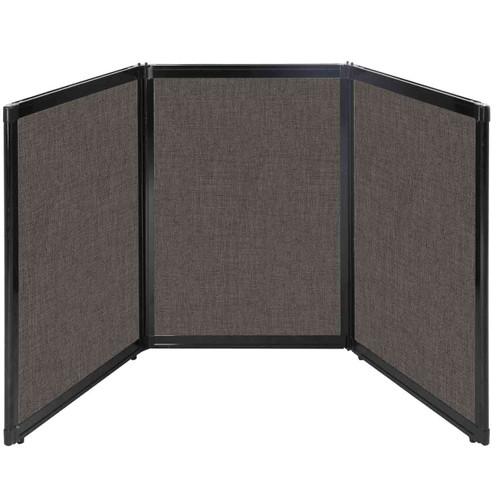 "Folding Tabletop Display 78"" x 36"" Mocha Fabric"