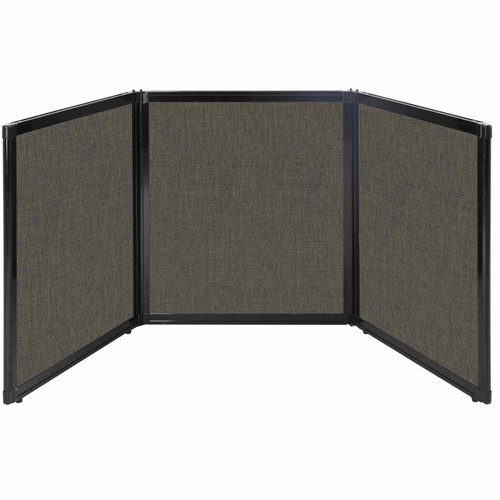 "Folding Tabletop Display 99"" x 36"" Mocha Fabric"